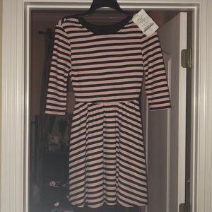 Junior size small pink and black dress
